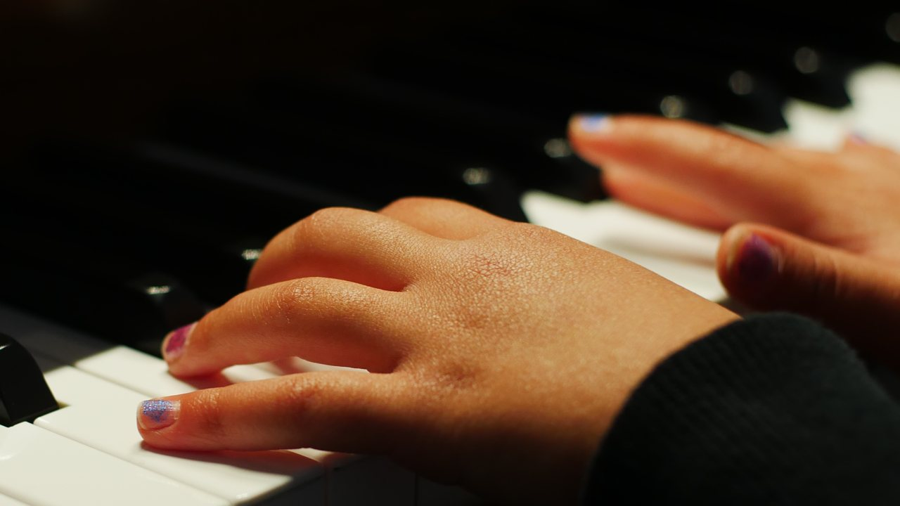 Child's Piano Hands